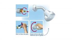 Reparación goteras de ducha spa o jacuzzi