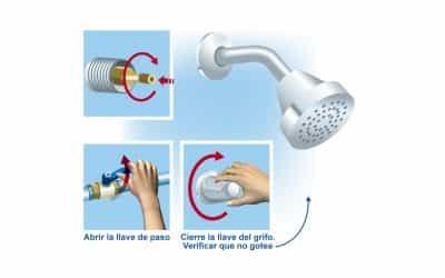 Reparación de las goteras de una ducha de spa